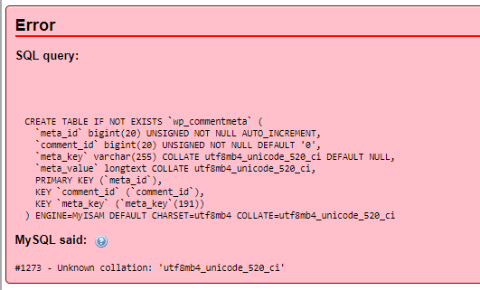 MySql Import Error Unknown collation: 'utf8mb4_unicode_520_ci'