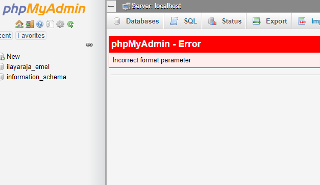 mysql incorrect format parameter error -WordPress